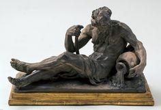 Jean-Jacques Caffieri (Parigi 1725 - 1792) Allegoria del fiume Rodano?/ Allegoria fluviale terzo quarto sec. XVIII terracotta patinata, 22 x 36 cm. Fondazione Ottavio Mazzonis