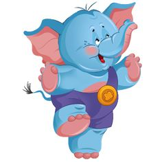 Cute Baby Elephant Cute Cartoon Clip Art Images. All Images Are On A Transparent Background