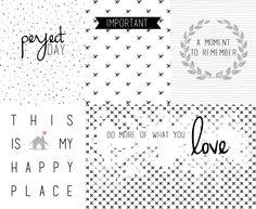 Free Black & White Journal Cards annsmiles.blogspot.com.es