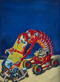 FRANK R. PAUL (American, The Ideal, Wonder Stories pulp magazine cover, September 1935 Oil on canvas - Available at 2013 Apr 11 - 12 Beverly Hills. Cover Art, Science Fiction Kunst, Pulp Magazine, Magazine Art, Vintage Horror, Sci Fi Fantasy, Sci Fi Art, Illustrators, Artwork