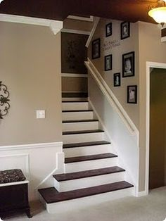 for the home; second staircase idea leading to work out room
