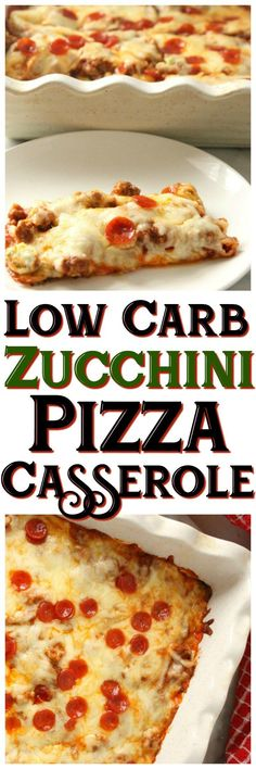 Check out this Low Carb Zucchini Pizza Casserole - perfect keto weekday meal for the entire family!
