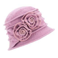 43037932277 Elegant Wool Hats for Women Winter Women Beanie Hat Ladies Warm Cap Floral  Beret Hat Cloche