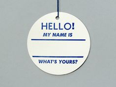 Old Hello Tags