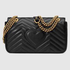 Shop the GG Marmont matelassé shoulder bag by Gucci. The small GG Marmont  chain shoulder 62428e4e1e9