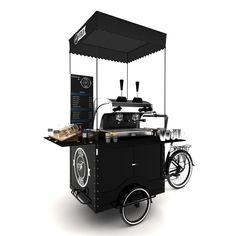 Ferla Mini Compact Coffee Bike (Available In Stock) Mobile Coffee Cart, Mobile Coffee Shop, Mini Cafeteria, Bike Cart, Bike Food, Food Cart Design, Velo Cargo, Mobile Cafe, Coffee Facts