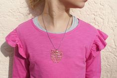 Crochet Necklace, Pendant Necklace, Owl, Jewelry, Etsy Shop, Fashion, Geometric Owl, Owl Necklace, Nursing Care