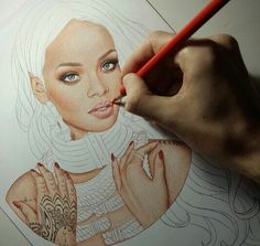 #rihanna #drawing #amazing #star #love #music #song #film #rr #22 #follow