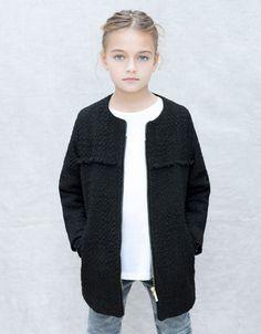 welcome home too=)ZIPPED COAT - Coats - Girl (2-14 years) - Kids - ZARA