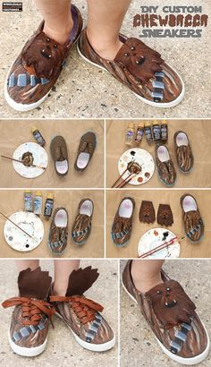 Everyone needs some Chewbacca shoes in their lives. Find out how to create your own with this DIY tutorial.