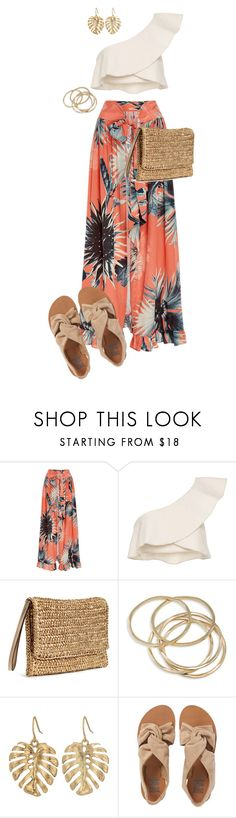 """Flower"" by ccoss on Polyvore featuring ADRIANA DEGREAS, Isabel Marant, ABS by Allen Schwartz, The Sak and Billabong"