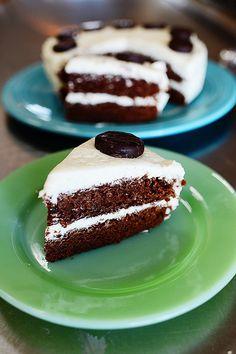 Chocolate Mint Cake + recipe #winterrecipe #chocolate #mint #peppermint