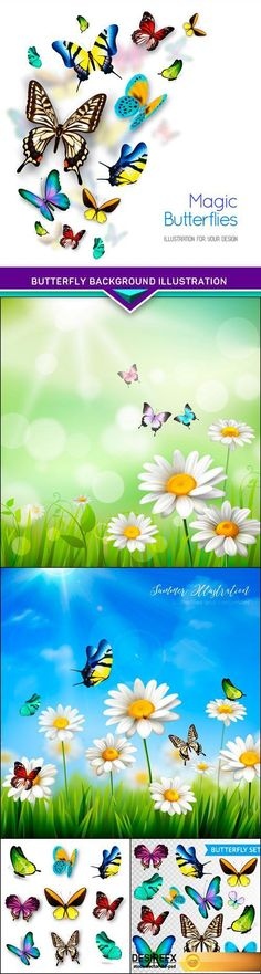Find your Grapfix Desire With US http://www.desirefx.me/butterfly-background-illustration-5x-eps/