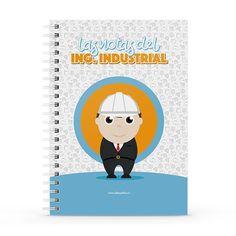 Cuaderno XL - Las notas del ingeniero industrial, encuentra este producto en nuestra tienda online y personalízalo con un nombre. Notebook, Cover, Notebooks, Report Cards, Day Planners, The Notebook, Exercise Book