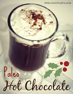 Dairy-free Paleo Hot Chocolate! A warm and delicious treat for the winter months! #paleo