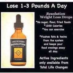 Lose 1-3 lbs per day with resolution. Stick to your diet and receive great results! View previous post for more info. Order yours and start losing weight!  http://www.totallifechanges.com/kfjones?utm_content=bufferd9128&utm_medium=social&utm_source=pinterest.com&utm_campaign=buffer (IBO 3827731)