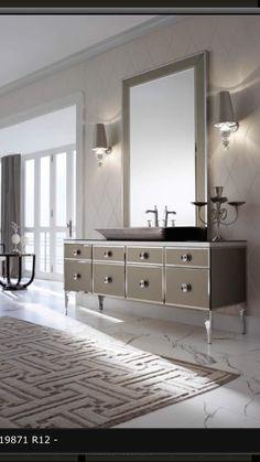 Milldue Majestic 22 Gold Aligator Glass High End Italian Bathroom Vanities  | Bathroom Remodel | Pinterest | Italian Bathroom, Bathroom Vanities And  Vanities