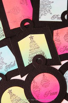 Holiday Ink Blended Tags ~ Capture. Create. Inspire.