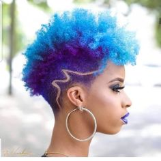 24 Beautiful Tapered Cuts For Natural Hair – Tapered Hair Cut Purple Natural Hair, Natural Hair Styles For Black Women, Purple Hair, Short Hair Styles, Natural Styles, Tapered Haircut Natural Hair, Tapered Natural Hair, Undercut Natural Hair, Fade Haircut