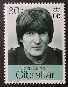 De muziek van de Beatles John van PassionGiftStampArt op Etsy