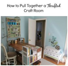 How to Pull Together a Thrifted Craft Room - 10 tips to create an affordable and comfortable space!