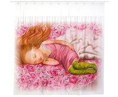"""Штора в ванную """"Спящая красавица"""", 180х170 см"""
