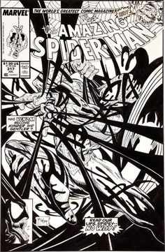 Todd McFarlane Amazing Spider-Man #317 Venom Cover Original Art (Marvel, 1989)