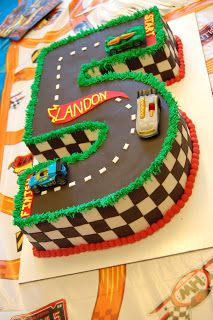 William Wants This Cake With A Number  Candle And Fast Fish Car - 5th birthday cake boy
