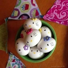 Hello Kitty-shaped Easter Eggs