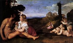 Three Ages of Man by Titian ca. 1512.
