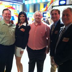 The Prize Patrol with our PCH Family Feud trip contest winners on set!