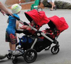 Newly Designed Triple Triplet Baby Jogger Stroller Infant Roller ...