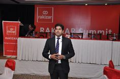 "Guest Speaker, Mr. Huzaifa Siddiqi, CEO, Insignia giving his presentation at RAKIZAR Summit on ""Entrepreneurs & Business Leaders"" on Thursday, January 24, 2013 at Royal Palm Golf & Country Club, Lahore"