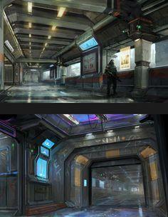 ArtStation - Inner City Mood Concepts, MuYoung Kim