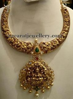 Jewellery Designs: Filigree Work Nakshi Necklace