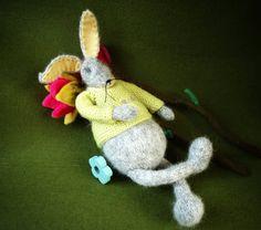Hase gestrickt Sammeln Figur Osterhase Puppe Frühling von ArtlessTM