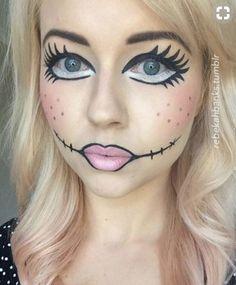 Doll Makeup - Halloween Costumes You Can Make With Just Makeup - Photos