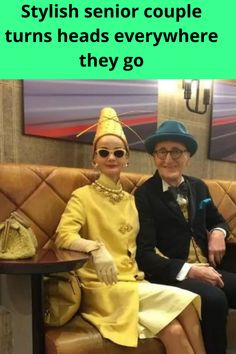 Nobody's too old to have some fun. Lately, this cool couple from Berlin has been lighting up the web with their dazzling photos. They're fashionistas of the highest caliber, never missing an opportunity to show off their stuff.