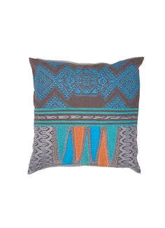 Traditions Made Pillow in Plum Kitten & Griffin design by Jaipur