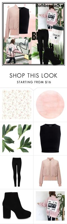 """""""Bomber Jacket"""" by fancysid ❤ liked on Polyvore featuring Theory, Wolford, Miss Selfridge, ALDO and Miss Étoile"""