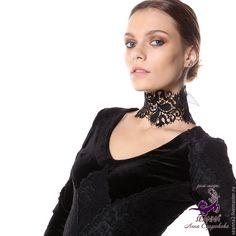 """Купить Ожерелье - чокер безразмерное кружево на ленте """"Перья лебедя"""" - ожерелье, колье, ожерелье купить"""