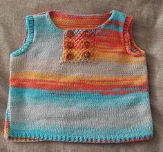 Areia: Chaleco de bebe con Katia Candy Knit Fashion, Baby Knitting, Knits, Christmas Ideas, Babies, Tops, Women, Baby Vest, Babys