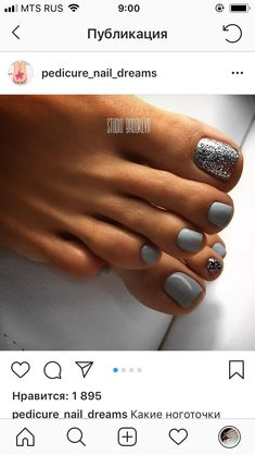 Nail Polish Ideas pedicure nail art toenails style for 2019 Is An Electric Cute Toe Nails, Fancy Nails, Pretty Nails, My Nails, Gel Toe Nails, Acrylic Nails, Glitter Toe Nails, Painted Toe Nails, Gel Toes