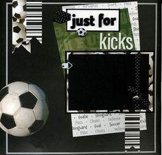 12x12 Premade Soccer Scrapbook Page Just by SusansScrapbookShack