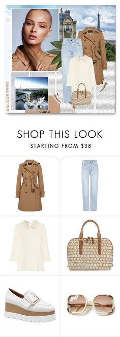 """Bonjour Paris"" by lovemeforthelife-myriam ❤ liked on Polyvore featuring Lonely Planet, J.Crew, Yves Saint Laurent, Miu Miu and Brahmin"