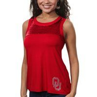 Oklahoma Sooners Ladies Sequin Tank Top - Crimson I think I need this! :)