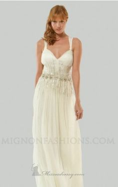 beaded waist wedding gown mignon Mignon MB103 Dress