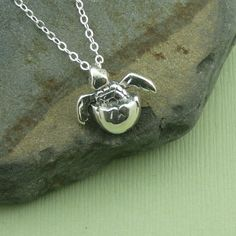 Baby Sea Turtle Necklace sterling silver turtle sea by TheZenMuse, $36.00