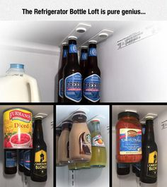 Funny pictures about Magnets Help You Organize Your Fridge. Oh, and cool pics about Magnets Help You Organize Your Fridge. Also, Magnets Help You Organize Your Fridge photos. Kitchen Organization, Organization Hacks, Cleaning Hacks, Cleaning Supplies, Pure Genius, Bottle Holders, Wonderful Things, Kitchen Gadgets, Kitchen Utensils