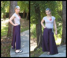 How to sew summer wrap-around pants
